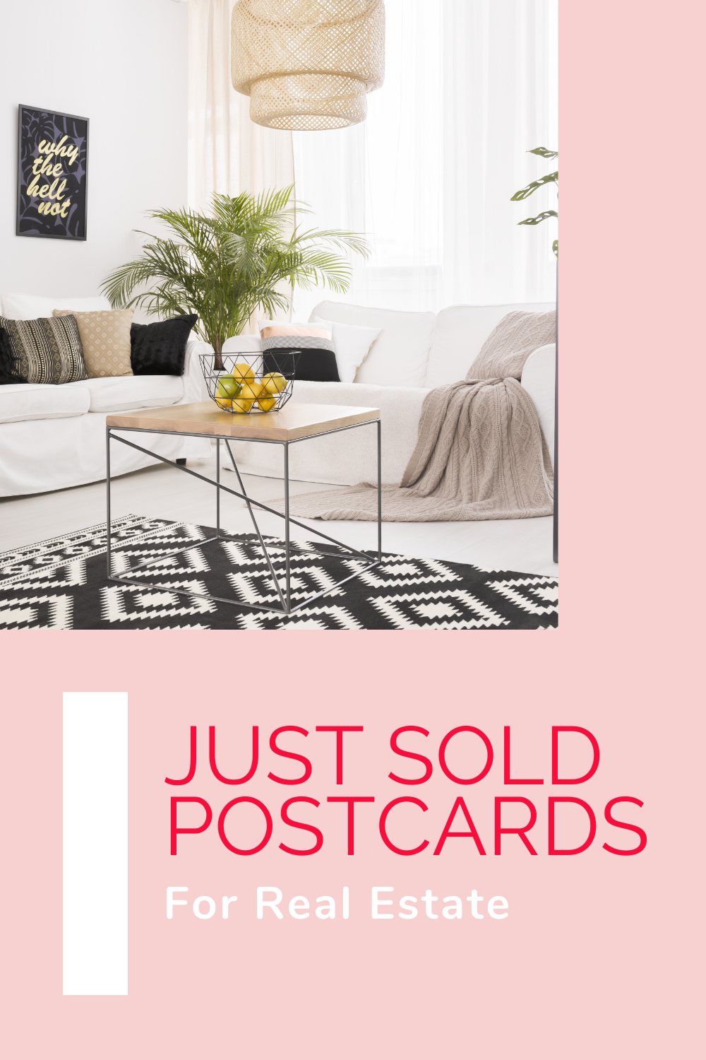 just sold postcard pin