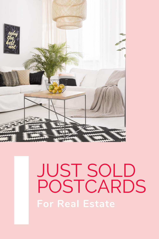 just sold postcard pin