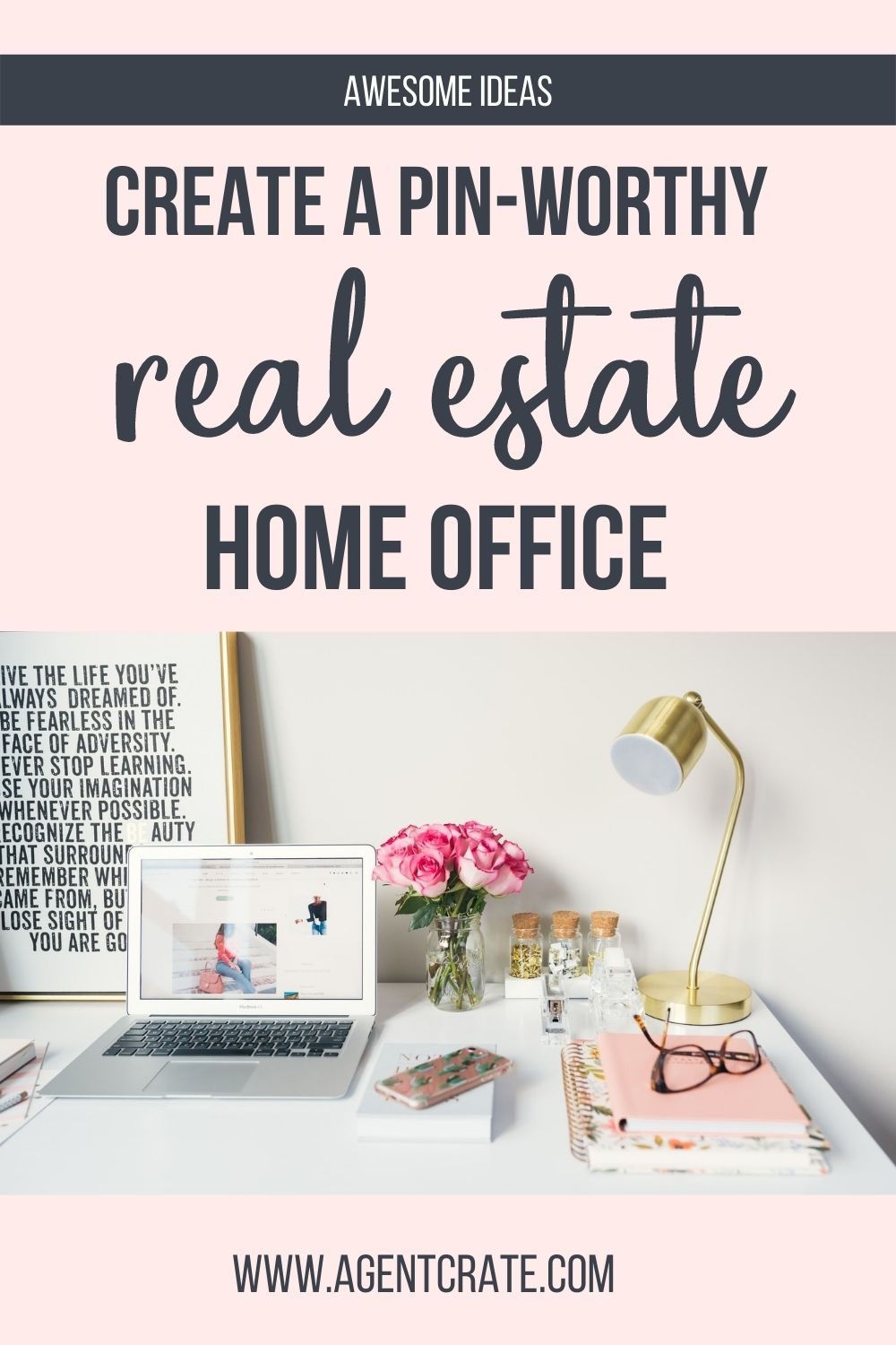 real estate home office workspace